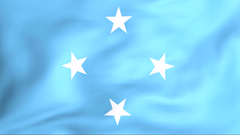 Developing the flag of Federated States of Micronesia Stock Video
