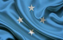 Wallpapers Flag Blue Texture Stars Flag Satin Satin Micronesia