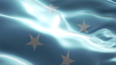 Country Flag Federated States of Micronesia Motion Backgrounds
