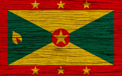 wallpapers Flag of Grenada 4k North America wooden