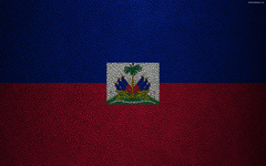 wallpapers Flag of Haiti 4K leather texture North