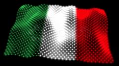 Glowing Italian Flag