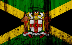 wallpapers Jamaican flag 4k grunge flag of Jamaica