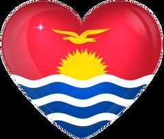 Kiribati Large Heart Flag