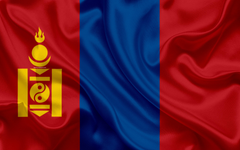 wallpapers Flag of Mongolia 4k silk texture Asia