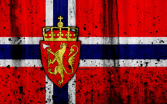 wallpapers Norwegian flag 4k grunge flag of Norway