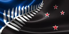 Newzealand Silver Fern Flag Hd Pics