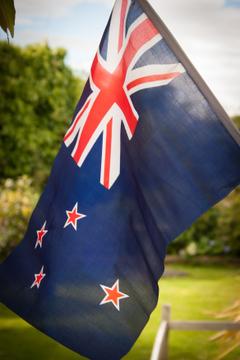stock photo of flag new zealand