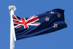 Newzealand National Flag Waving In Wind Hd Wallpapers