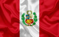 wallpapers Peruvian flag national flag Peru silk texture
