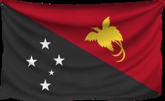 Papua New Guinea Wrinkled Flag