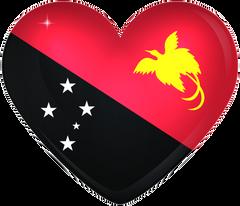 Papua New Guinea Large Heart Flag