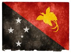 photo Papua New Guinea Grunge Flag