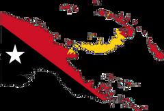 Papua New Guinea Flag Map large map
