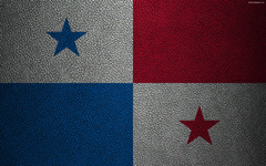 wallpapers Flag of Panama 4K leather texture North