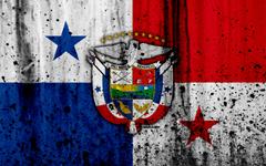 wallpapers Panama flag 4k grunge North America flag of