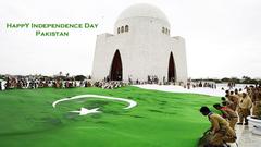 Pakistani Flag Decorated on Mazar