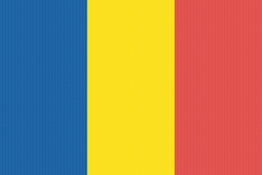 Romania Flag Typography by GELO25