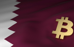Wallpapers blur flag flag qatar bitcoin bitcoin btc Qatar
