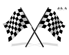 Checkered Drawing Racing Flag Transparent PNG Clipart