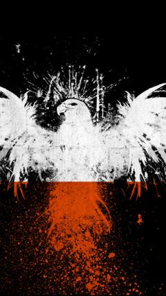ScreenHeaven Eagle art poland flag high quality backgrounds