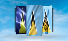 Saint Lucia Flag Wallpapers for Android