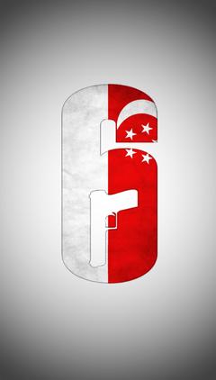 Rainbow Six Siege Singapore Flag and SAF Camo Logo Wallpapers