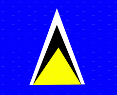 Flag of Saint Lucia wallpapers