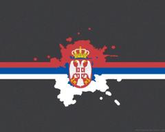 Serbian flag by polkan
