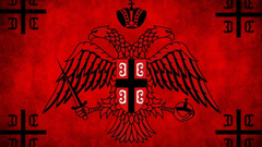 War brotherhood flags serbia ancient serbian orthodox cross