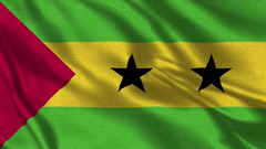 Sao Tome And Principe Flag Realistic 4 K 60 Fps Flag Of The Sao Tome