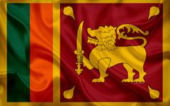 wallpapers flag of Sri Lanka 4k silk flag national