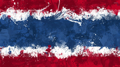 Flag of Thailand with paint splash wallpapers