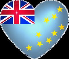 Tuvalu Large Heart Flag
