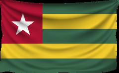 Togo Wrinkled Flag