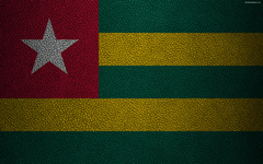 wallpapers Flag of Togo Africa 4k leather texture flags