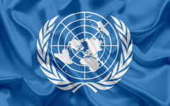 wallpapers Flag of the United Nations silk flag UN world