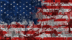 Dirty Painting American Flag Exclusive HD Wallpapers