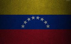 wallpapers Flag of Venezuela 4k leather texture