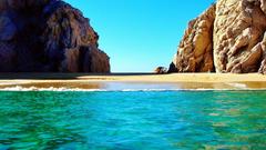 Wallpapers sea bay beach coast cliff swimming pool