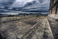 Alcatraz Prison Yard by Arai