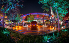 Wallpapers California Disneyland USA HDRI Night Cities