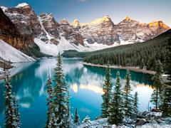 Winter Moraine Lake Alberta Canada 4K HD Desktop Wallpapers for