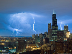 Lightning Sears Tower Photo Weather Wallpapers National