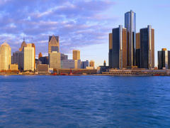 Detroit at sunrise Wallpapers