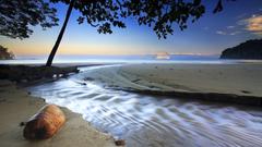 fond ecran paysage nature plage hd punta arena costa rica