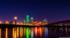 Skyline Dallas At Night Hd Wallpapers