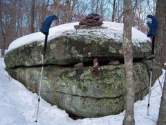 Forest SAM Warm Winter Wear Chatfield Hollow Trails Boulders