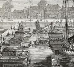 Sketch Fisherman s Wharf Mural Wallpapers Brokers