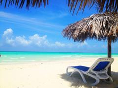 Parasol at the resort of Cayo Santa Maria Cuba wallpapers and